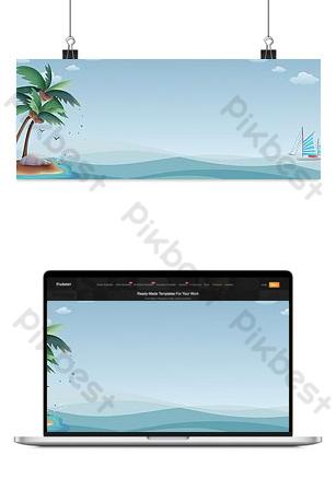 fondo de anuncio de tienda fresco y simple junto al mar Fondos Modelo PSD