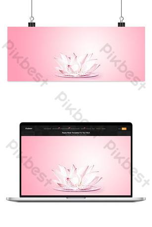 fondo rosado simple del cartel de la bandera del gradiente del loto Fondos Modelo PSD