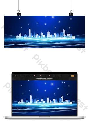 technology sense real estate banner Backgrounds Template PSD