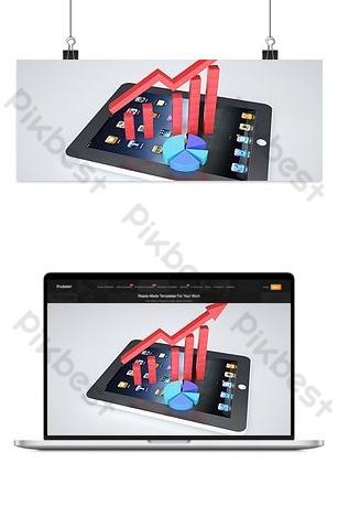 صور سهم جدول البيانات المالية التجارية خلفيات قالب PSD