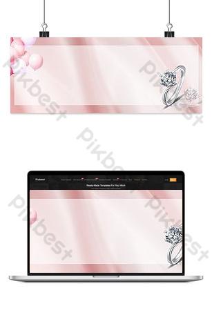 fondo rosado simple de la bandera del anillo de san valentín Fondos Modelo PSD