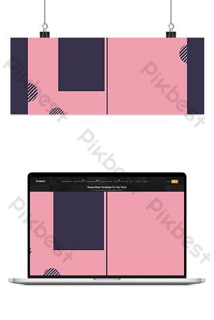 fondo rosado simple del cartel de las mujeres Fondos Modelo PSD