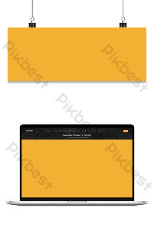 Hello september autumn cartoon geometric yellow banner Backgrounds Template PSD