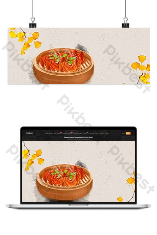 Seafood sale hairy crab promotion banner Backgrounds Template PSD
