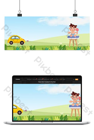 Child seat poster background image Backgrounds Template PSD