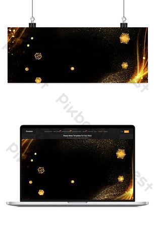 Life service black background simple style poster banner Backgrounds Template PSD