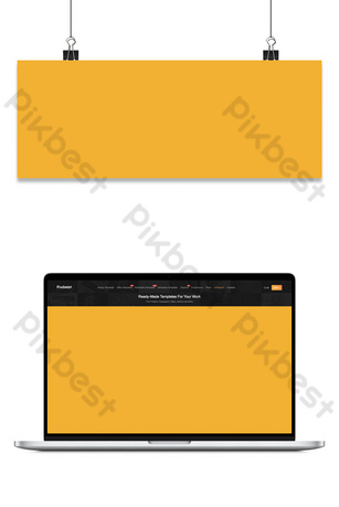 September Hello literary small fresh yellow banner Backgrounds Template PSD
