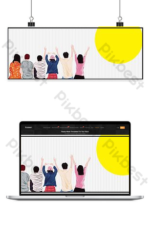 BANNER picture of graduation season poster Backgrounds Template PSD