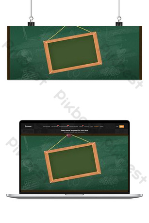 Green campus season blackboard chalk word taobao poster background image Backgrounds Template PSD