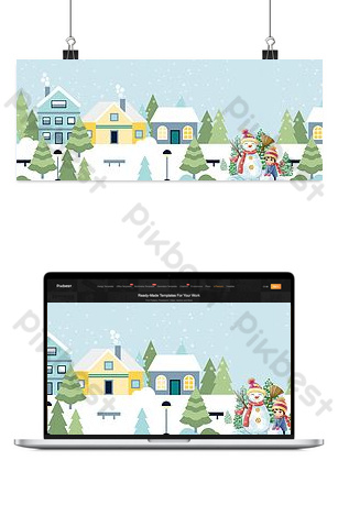 Warm winter covenant travel season travel poster background Backgrounds Template PSD