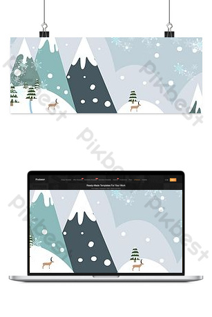 Warm winter covenant travel season travel poster Backgrounds Template PSD