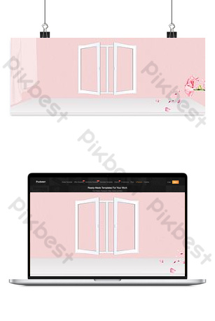 Hello september simple and fresh pink e-commerce banner Backgrounds Template PSD