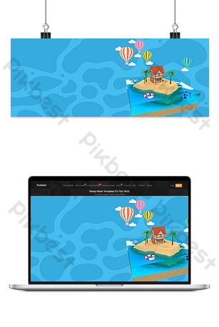Summer camp banner background image Backgrounds Template PSD
