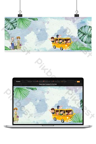 E-commerce taobao national day travel season poster banner Backgrounds Template PSD
