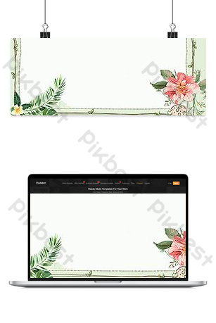 Fresh summer style theme banner Backgrounds Template PSD