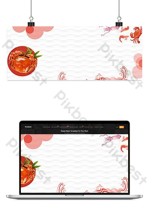 Summer seafood catering background template Backgrounds Template PSD