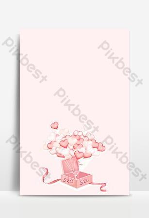 caja de regalo de globo de amor rosa 520 fondo de confesión Fondos Modelo PSD