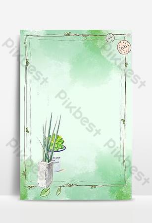 الكرتون الأخضر مرسومة باليد صورة الخلفية خلفيات قالب PSD