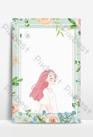 Fresh pattern september hello background poster Backgrounds Template PSD