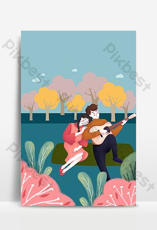 Hello september couple warm poster background Backgrounds Template PSD