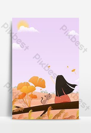Hello autumn hello september poster background download Backgrounds Template PSD