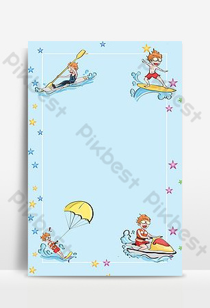 Sea sports kayak surfing background Backgrounds Template PSD
