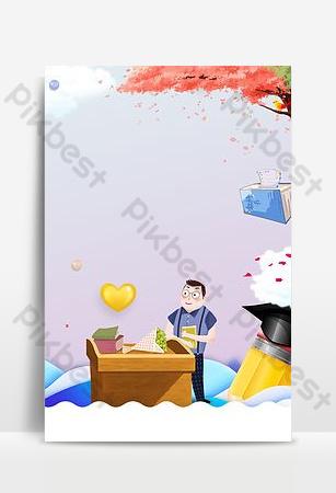 المعلم الكرتون الإبداعية نعمة لا تنسى يوم المعلم الشكر خلفية ملصق خلفيات قالب PSD
