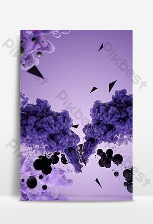 cartel de fondo de publicidad de humo púrpura Fondos Modelo PSD
