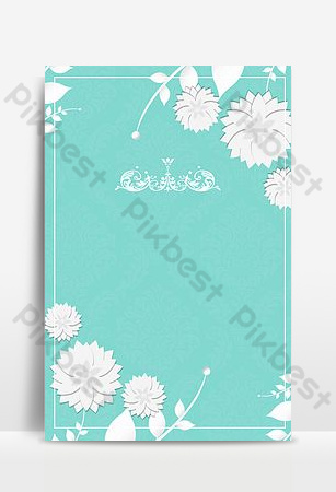 Tiffany blue senior blue lace shading poster Backgrounds Template PSD