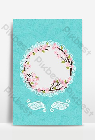 Tiffany senior blue small fresh lace shading floral background Backgrounds Template PSD