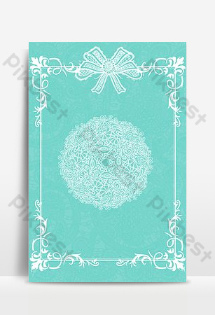 Senior blue tiffany fashion lace border poster Backgrounds Template PSD