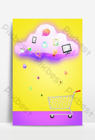 Shopping mall promotion discount advertising background Backgrounds Template PSD
