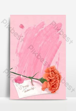 Carte de voeux de fleurs roses aquarelle fond de Thanksgiving Poster Fond Modèle PSD