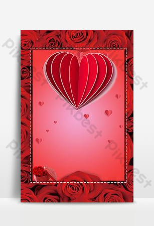 dia de san valentin amor fondo rosa roja Fondos Modelo PSD