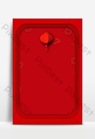 الأحمر العام الجديد ورقة احتفالية قطع مستوى الخلفية خلفيات قالب PSD