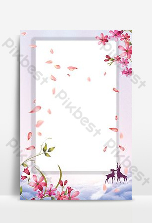 fondo simple y hermoso del cartel de la frontera de la flor Fondos Modelo PSD