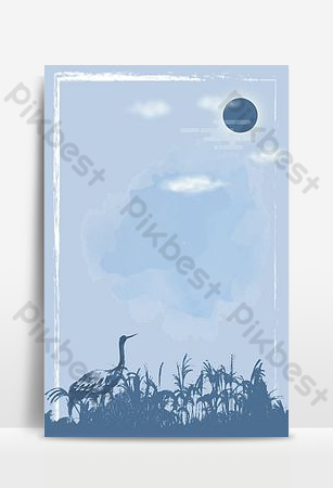 الحد الأدنى الأزرق يوم الأرض الرطبة صورة ظلية ملصق الخلفية خلفيات قالب PSD