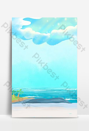 Creative seaside landscape synthesis background Backgrounds Template PSD