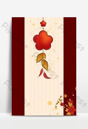 kartu ucapan ornamen bunga plum merah e commerce latar belakang taobao h5 Latar belakang Templat PSD