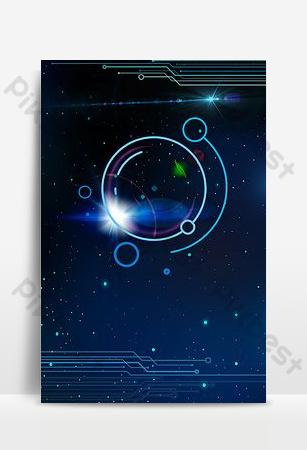 line technology blue senior poster background Backgrounds Template PSD
