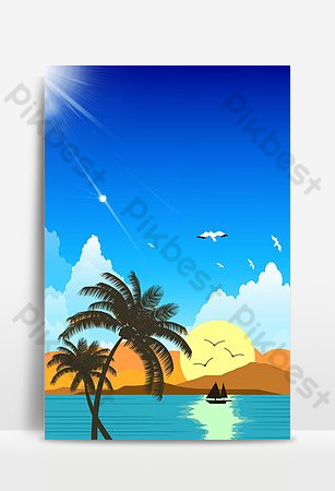 Natural seaside landscape creative background synthesis Backgrounds Template PSD