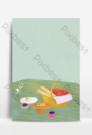 ilustrasi poster bahan promosi makanan segar Latar belakang Templat PSD