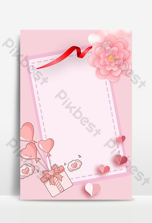 Simple literary and warm 38 March women's day pink background poster Backgrounds Template PSD