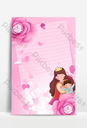 Small fresh pink warm 38 women's day background poster Backgrounds Template PSD