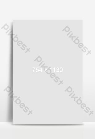 Vector cartoon minimalistic spring equinox season outdoor landscape Backgrounds Template PSD