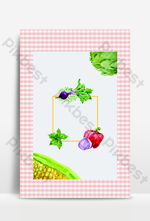 Food Festival March Seasonal Fruits and Vegetables Backgrounds Template PSD