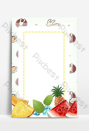 March seasonal fruit background Backgrounds Template PSD