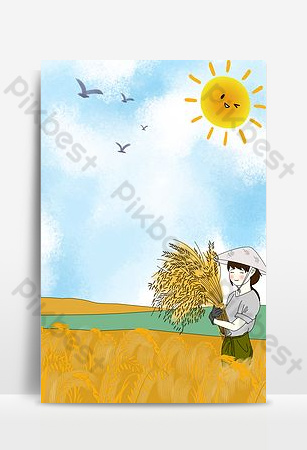 五月天卡通農夫背景 背景 模板 PSD