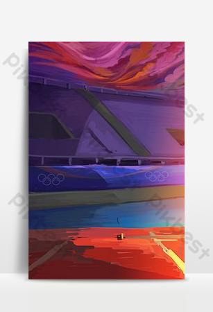 fondo pintado de pista deportiva Fondos Modelo PSD