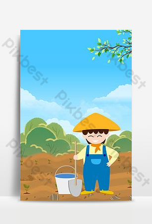 卡通民工可能五一勞動節海報 背景 模板 PSD